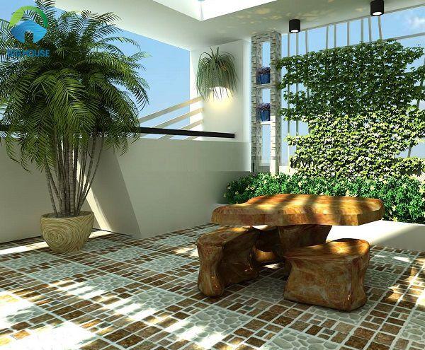 25+ Mẫu gạch lát sân thượng chống nóng Đẹp – Giá rẻ 2021