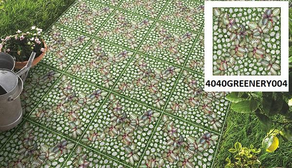 Mẫu gạch Đồng Tâm 4040GREENERY004 mang đậm màu sắc của thiên nhiên tạo cảm giác thoải mái cho người sử dụng