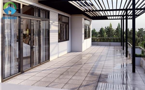 Chọn gạch granite chống nóng sân thượng tối ưu