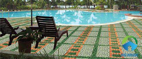 mẫu gạch lát sân vườn biệt thự đẹp nhất