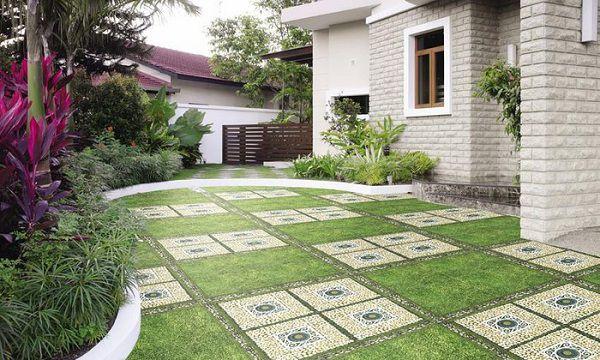 Gạch lát sân vườn chống trơn tốt