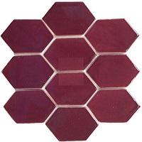 Tổng hợp mẫu gạch lục giác màu nâu đỏ