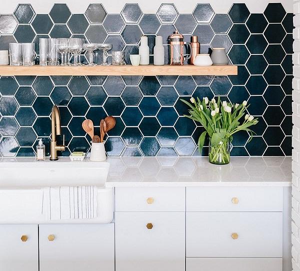 TOP mẫu Gạch lục giác ốp bếp Đẹp kèm cách chọn, bảng giá