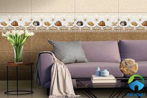 gạch men ốp tường phòng khách 13