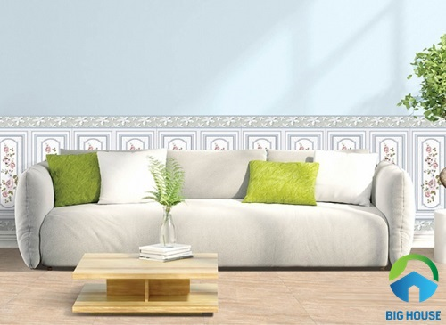gạch men ốp tường phòng khách 4