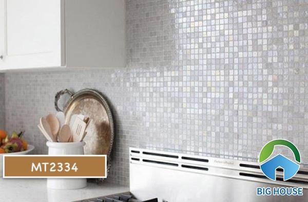 Gạch mosaic màu trắng MT2334