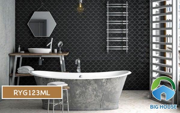 Gạch mosaic màu đen RYG123ML