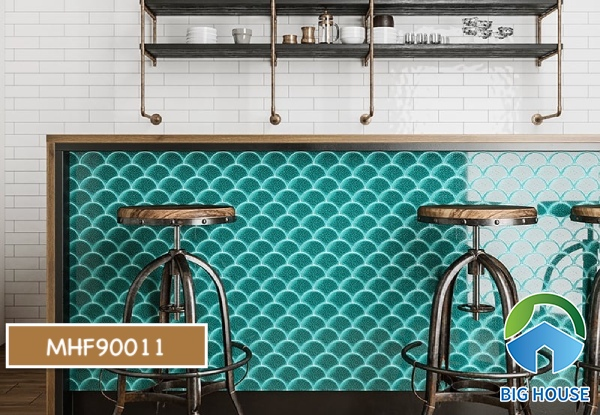 Gạch mosaic màu xanh MHF90011