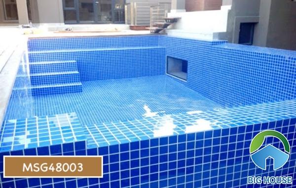 Gạch mosaic màu xanh MSG48003