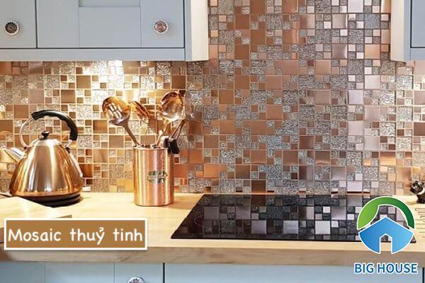 Gạch mosaic thuỷ tinh màu vàng