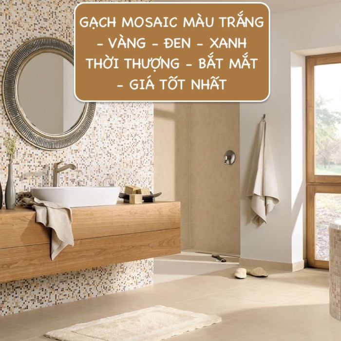Top mẫu gạch mosaic màu trắng, vàng, đen, xanh Giá tốt 2021