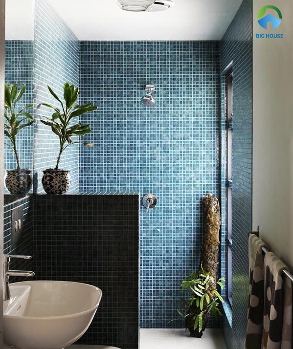gạch mosaic màu xanh 2