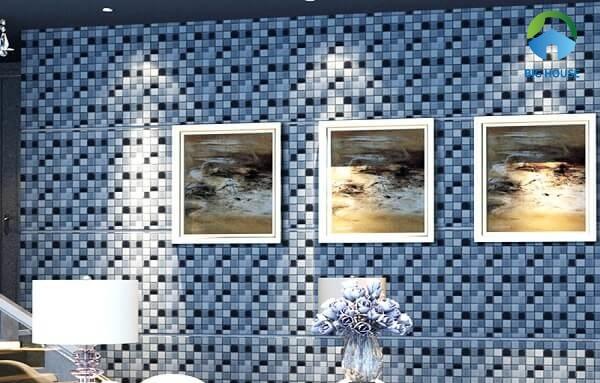 gạch mosaic màu xanh 3