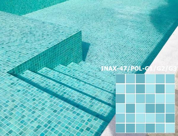 gạch mosaic ốp bể bơi INAX-47/POL-G1/G2/G3