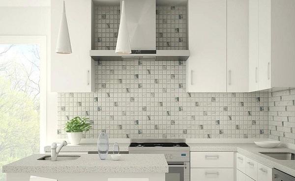 Gạch mosaic cũng là gợi ý hoàn hảo cho khu vực bếp nấu