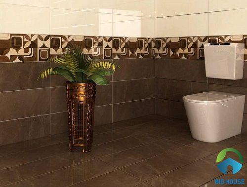 Mẫu gạch lát nền nhà tắm đơn giản