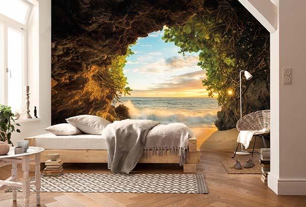 gạch ốp 3d phòng ngủ