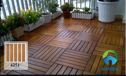 Gạch lát ban công dạng thanh gỗ