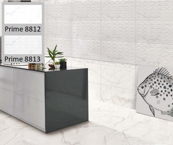 Bộ gạch lát bếp Prime 08812 - 08813 mang đến vẻ đẹp hiện đại cho không gian. Viên gạch điểm họa tiết hoa nhẹ nhàng cho phòng bếp thêm thu hút hơn, không bị nhàm chán