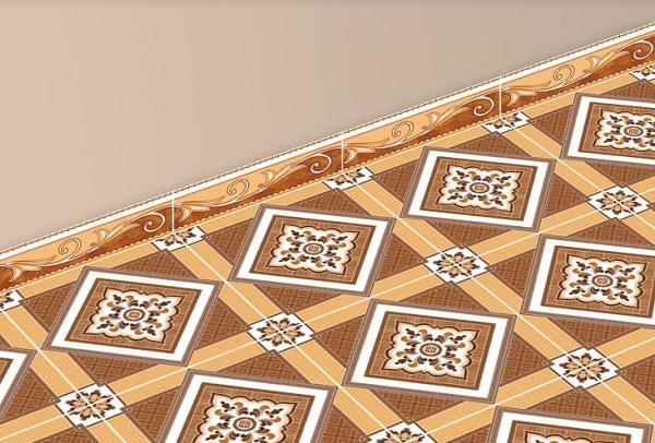 gạch ốp chân tường 120x400 nâu vàng sang trọng