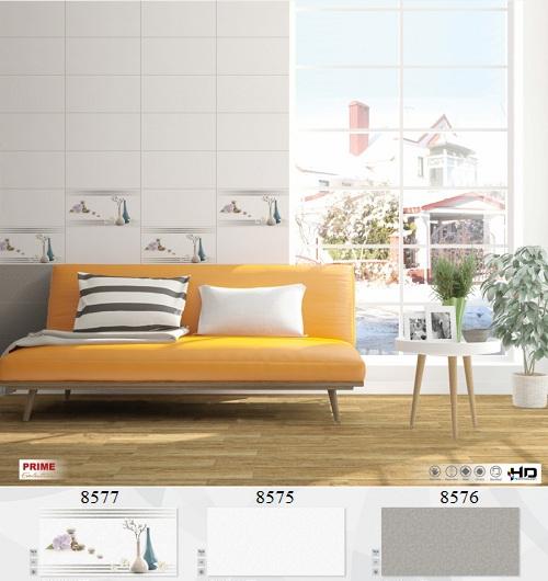 Mẫu gạch ốp tường phòng khách theo bộ