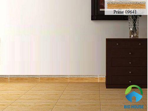 Gạch viền ốp chân tường phòng khách