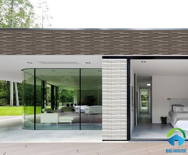 Mẫu gạch thẻ ốp tường giả đá độc đáo, giúp bảo vệ công trình luôn bền đẹp