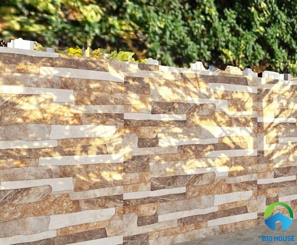Tường nhà sử dụng gạch giả cổ trang trí mang đến sự mới lạ