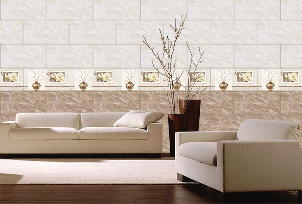 Bộ gạch ốp phòng khách viglacera đậm điểm nhạt tạo sự mới lạ