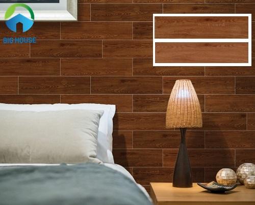 gạch ốp phòng ngủ giả gỗ prime