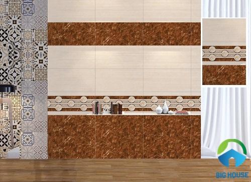 Kết hợp giữa nhiều mẫu gạch ốp tường phòng ngủ Prime tạo ấn tượng riêng