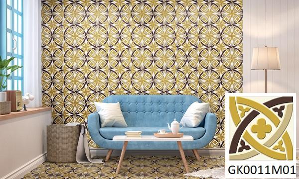 Mẫu gạch bông ốp tường phòng khách Đồng Tâm GK0011M01 mang đến vẻ đẹp nổi bật cho không gian