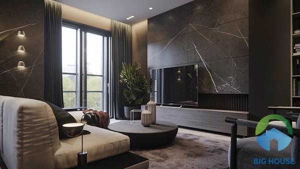 Gạch ốp tường màu đen được ứng dụng trong nhiều công trình khác nhau