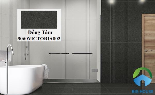 Không gian phòng tắm với mẫu gạch Đồng Tâm 3060VICTORIA003 kích thước 30x60 ốp tường