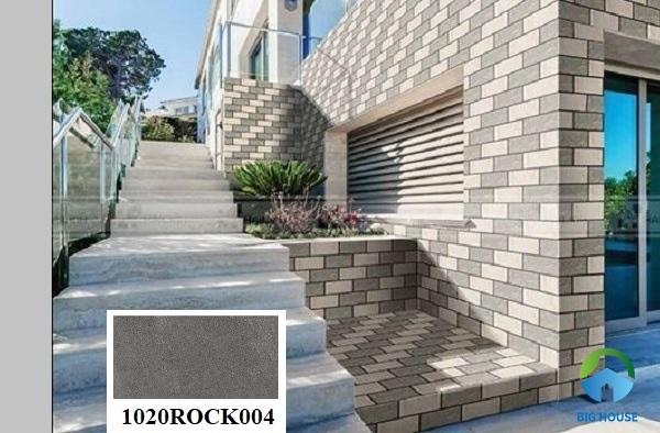 gạch ốp tường màu xám ngoại thất