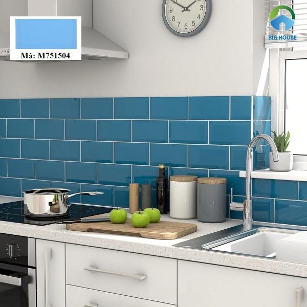 gạch ốp tường màu xanh dương
