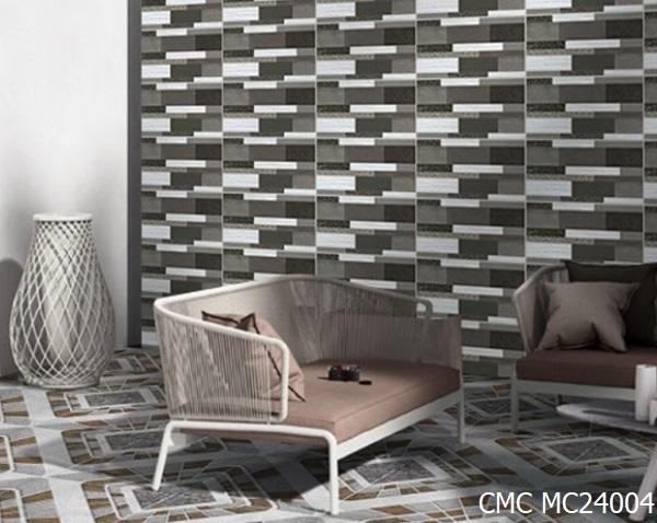 Gạch ốp tường ngoài trời CMC MC24004 có kích thước 20x40. Sản phẩm với họa tiết giả cổ phối màu ấn tượng, tạo điểm nhấn độc đáo.
