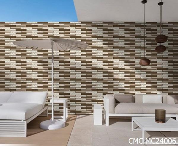 CMC MC24006 là mẫu gạch ốp tường ngoại thất bán rất chạy hiện nay của hãng. Gạch có kích thước 20x40cm.