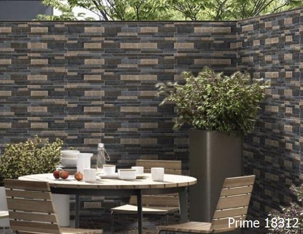 Đây là mẫu gạch trang trí ngoại thất Prime 18312 màu giả cổ cho khu vực sân vườn