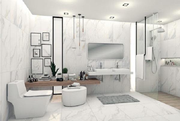 Tùy vào diện tích không gian mà bạn có thể lựa chọn cho phòng tắm của mình mẫu gạch ốp phù hợp