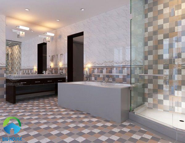 gạch ốp lát nhà vệ sinh hình khối đẹp