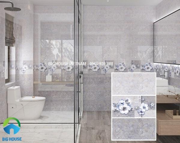 Bộ gạch ốp tường nhà vệ sinh theo quy tắc đậm điểm nhạt