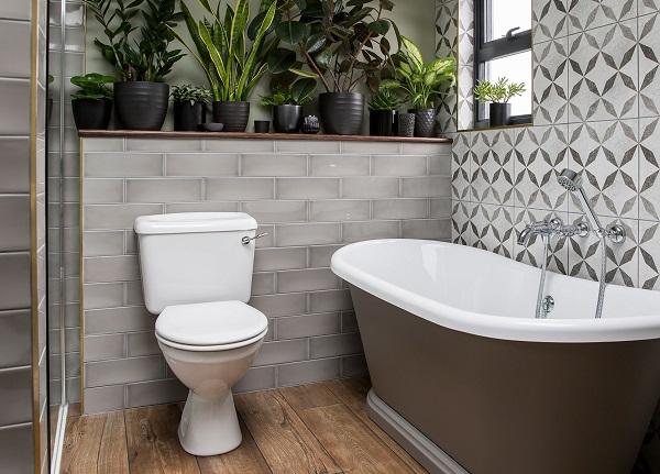 Mẫu gạch ốp nhà vệ sinh nhỏ xinh