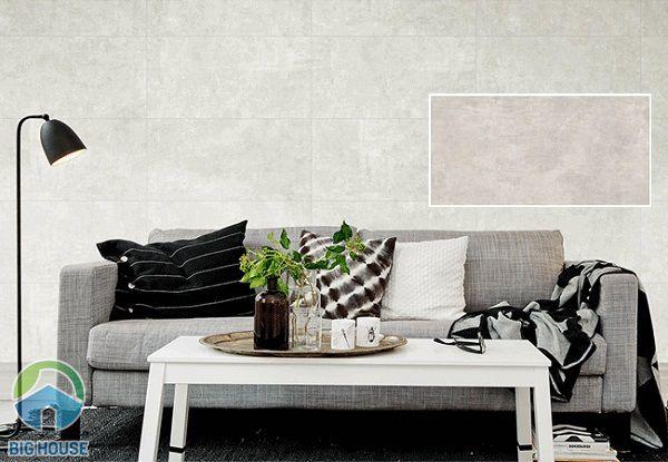 Gạch màu ghi đen họa tiết vân đá phù hợp nhiều phong cách