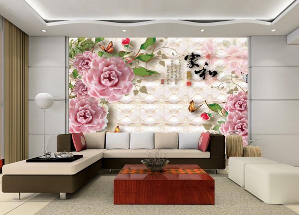 mẫu gạch ốp tường phòng khách đẹp