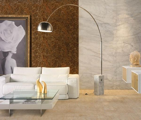 gạch ốp tường phòng khách dep