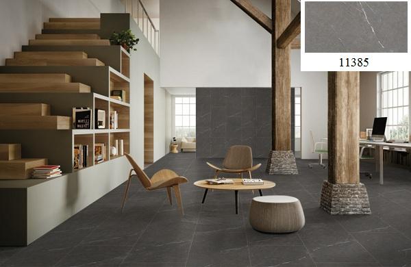 Sử dụng gạch có tông màu đối lập để ốp phòng khách tạo sự khác biệt