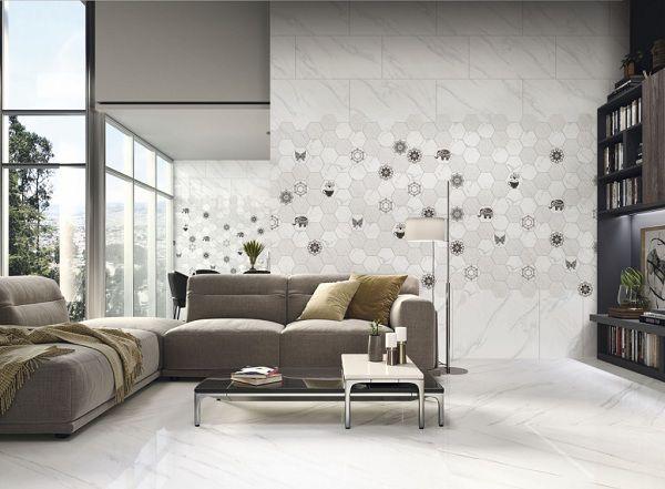 Gạch ốp tường phòng khách đẹp - Ấn tượng hơn