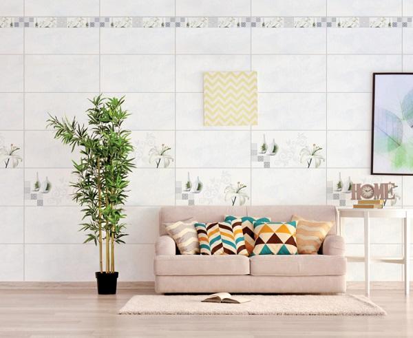 mẫu gạch ốp tường phòng khách 2020