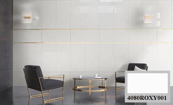 Mẫu gạch men ốp tường 4080ROXY001 của Đồng Tâm mang vẻ đẹp đơn giản, lôi cuốn